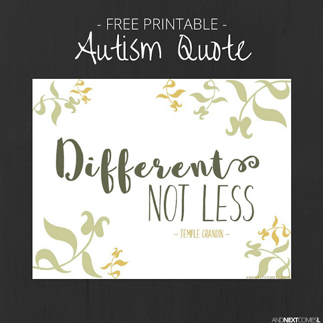 Free printable Temple Grandin autism quote from And Next Comes L