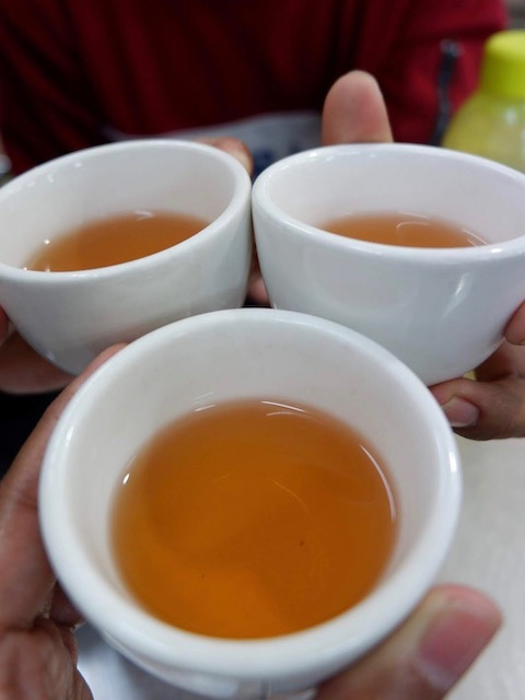 Tea without sugar in Yangon