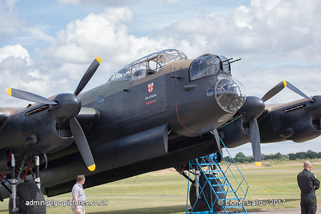 BBMF Lancaster problem with number three engine.