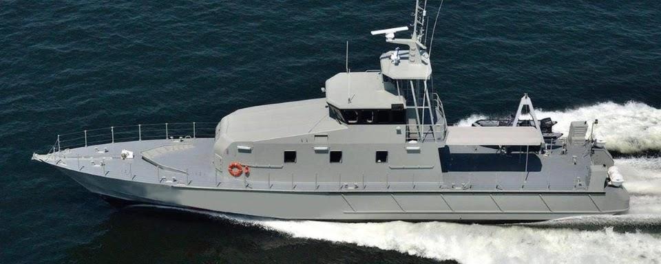 Українські прикордонники прийняли корпус першого катера FPB 98 MKI