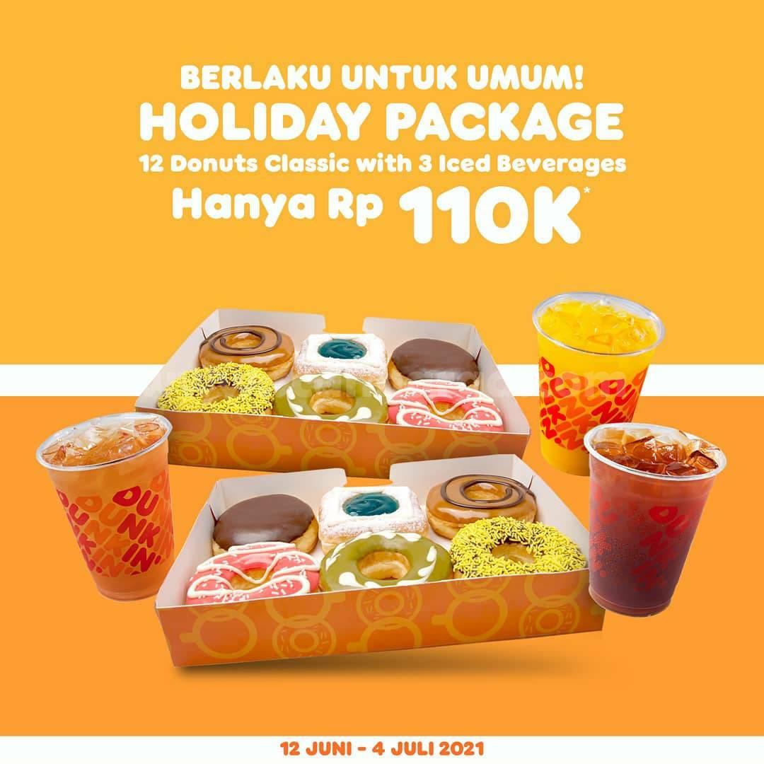 Promo Dunkin Donuts Holiday Package harga Spesial hanya 110K