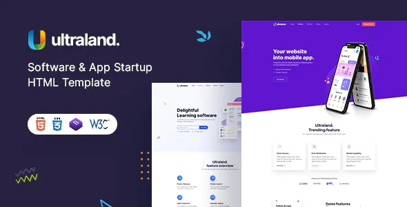 Best Software & App Startup HTML template