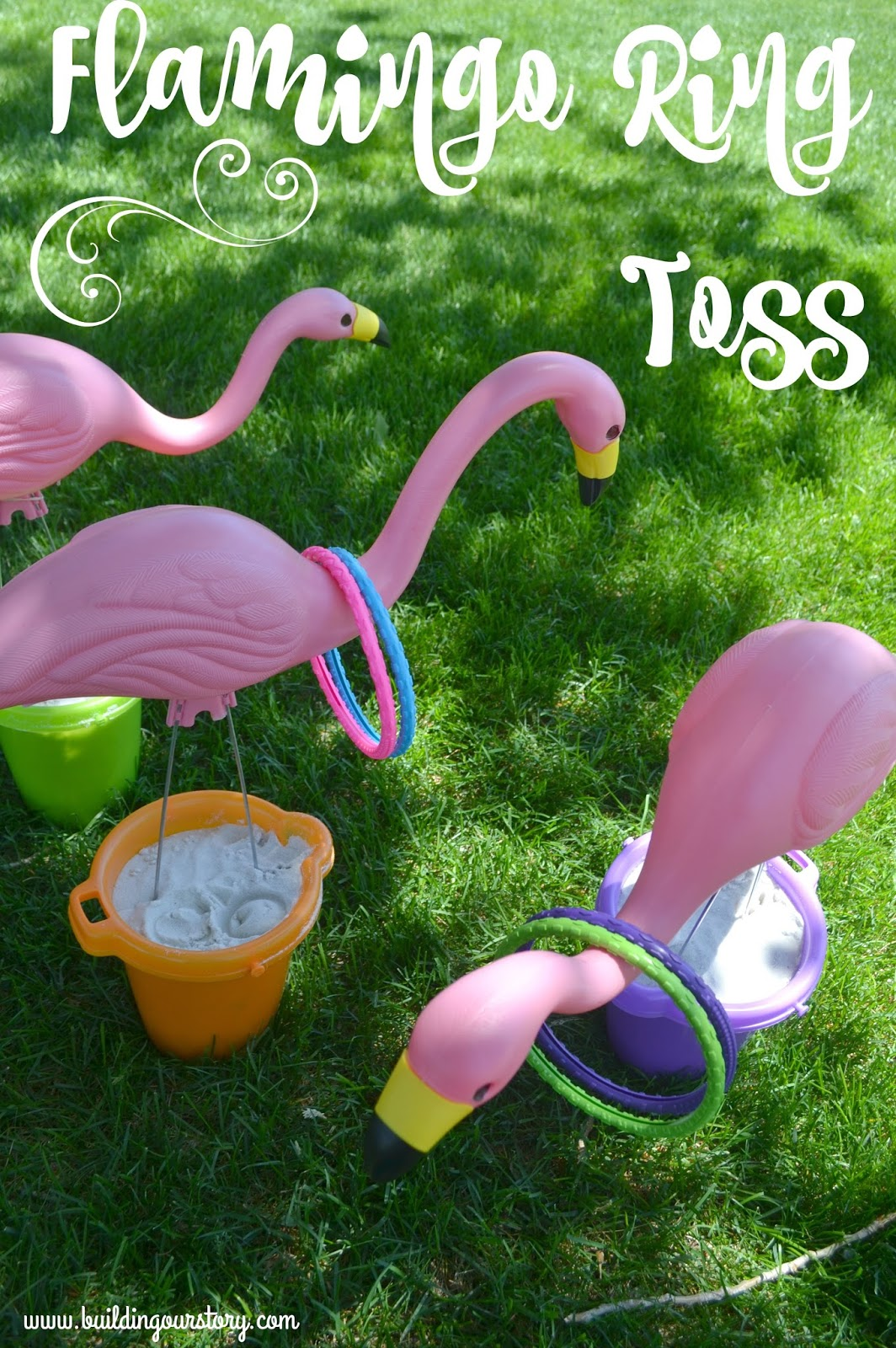 Summertime flamingo ring toss building our story for Fall outdoor activities for adults