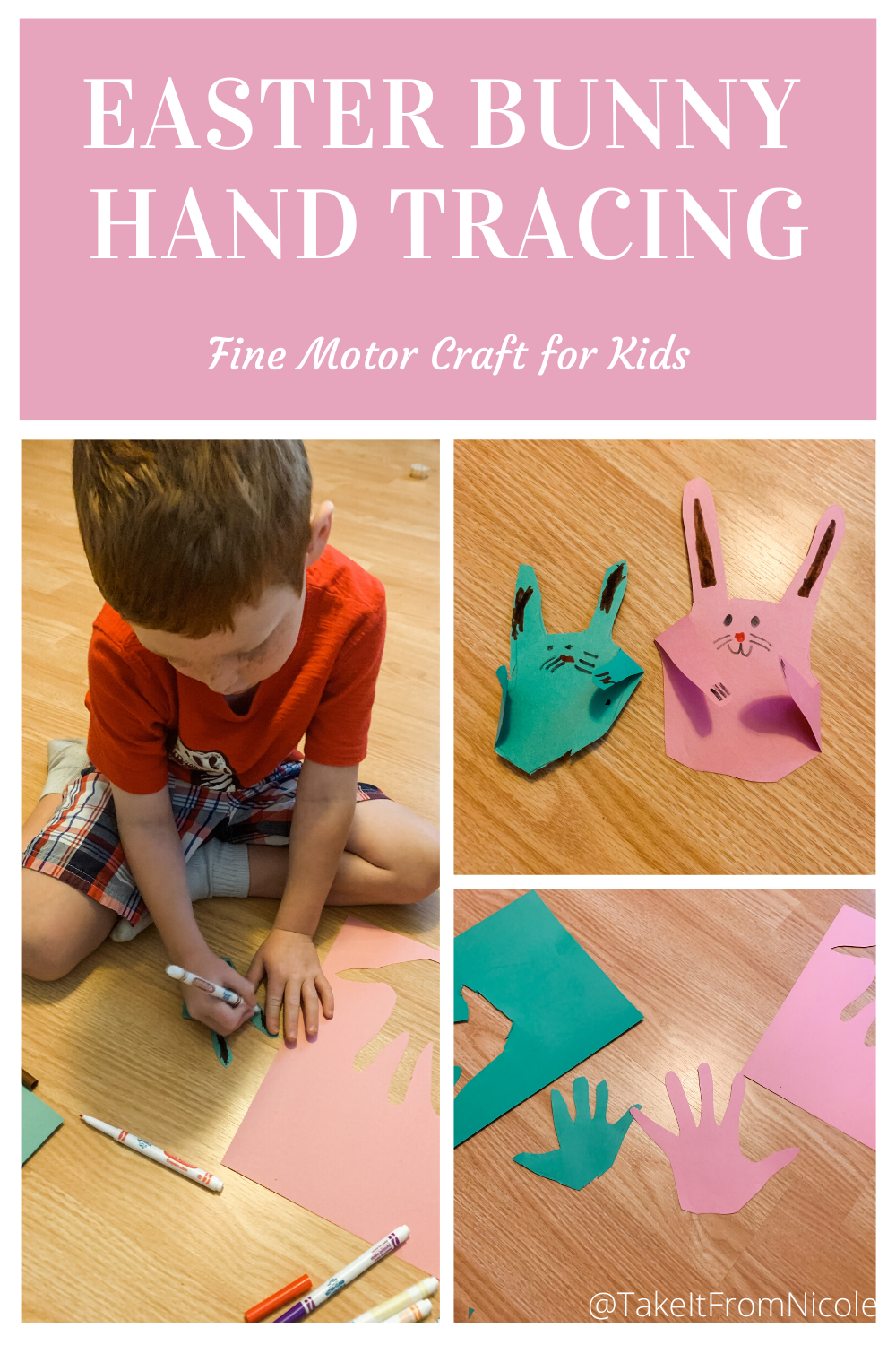 Easter Bunny Hand Tracing Craft