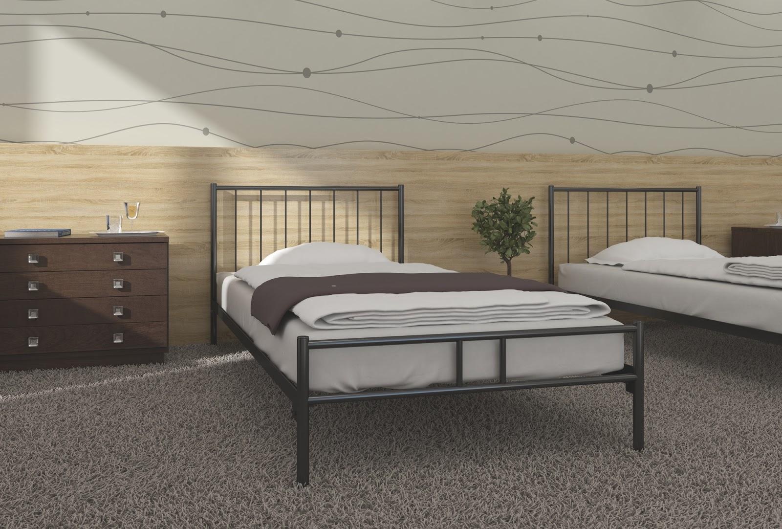 Łóżko metalowe wzór 3J