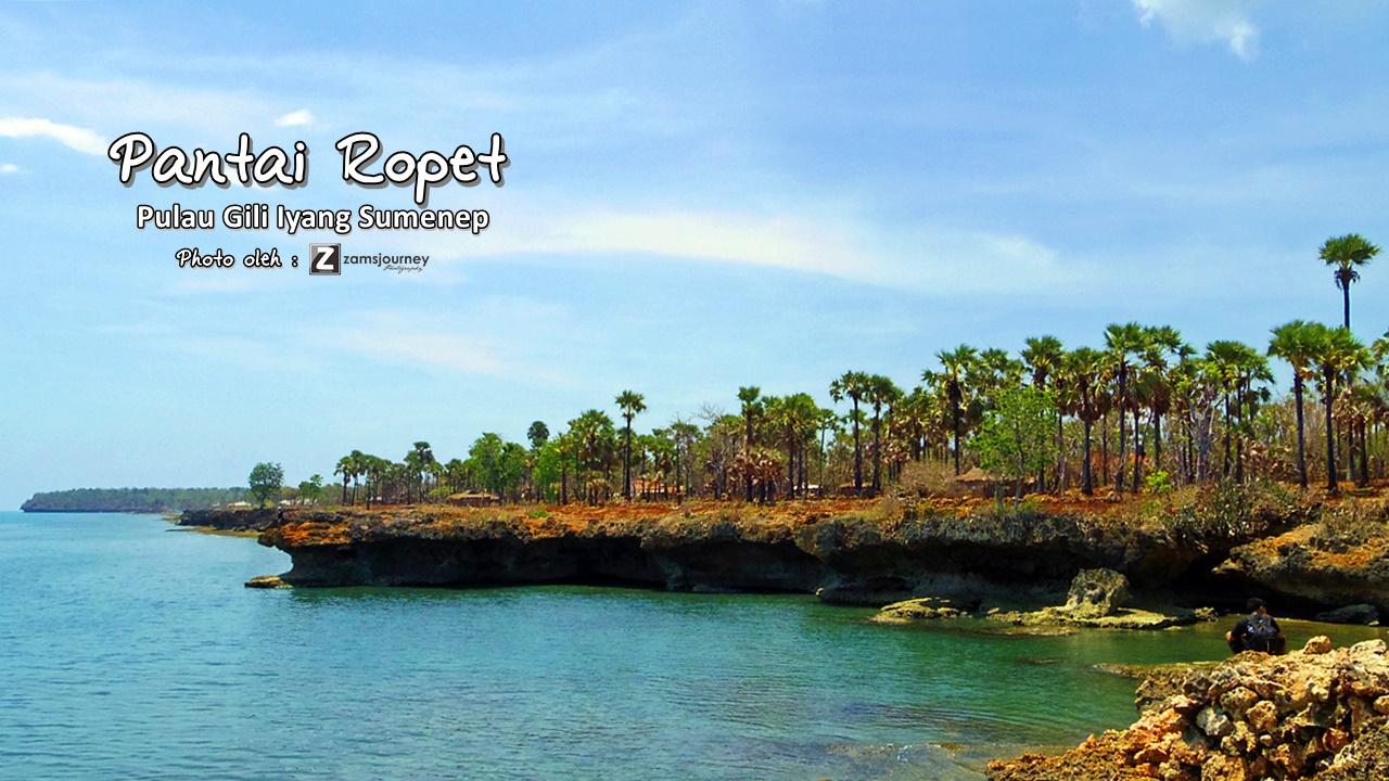 Pantai Ropet Gili Iyang Sumenep