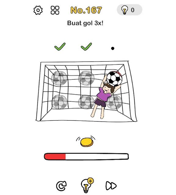 Buat gol 3 kali!