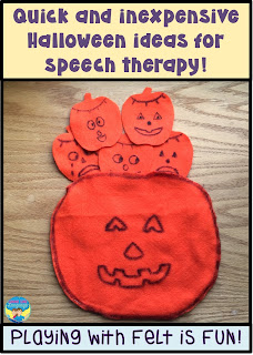 Find out how to make and use a pumpkin bag for emotions at Looks Like Language!