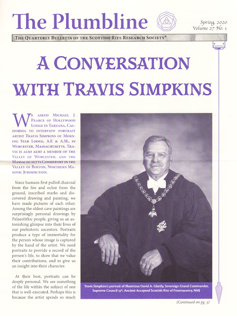 The Plumbline. Scottish Rite Research Society. A Conversation with Travis Simpkins