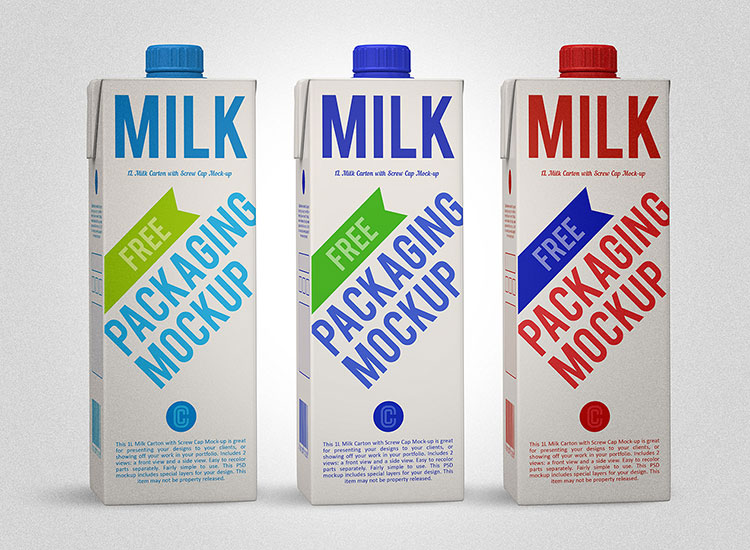 Milk Carton Box MockUp