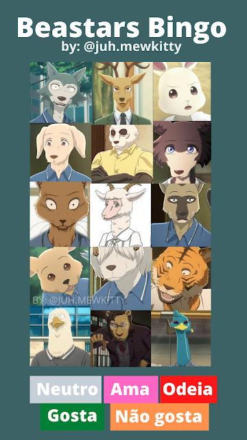 Template bingo de animes para responder