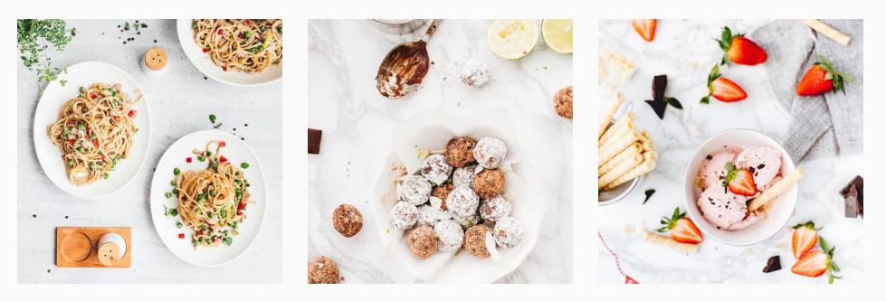 Ładny Instagram z jedzeniem