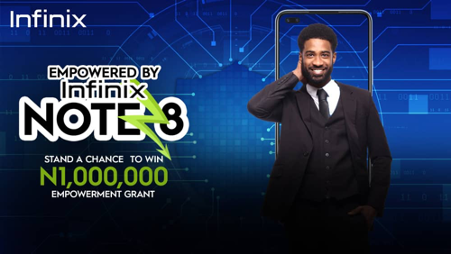 Win 1million Naira in the Infinix Note 8 Empowerment Campaign #Arewapublisize