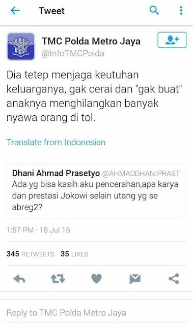 HEBOH, Kicauan Ahmad Dhani Di Twitter Untuk TMC Polda Metro Jaya Yang Dinilai Netizen Sebagai SKAK MATT