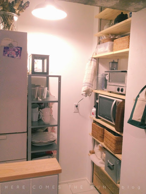 パントリー風キッチン収納