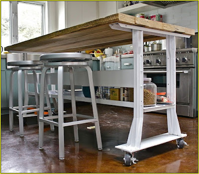 kitchen island on wheels with seating uk