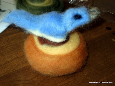 Wool Felting on the Virtual Refrigerator, an art link-up hosted by Homeschool Coffee Break @ kympossibleblog.blogspot.com