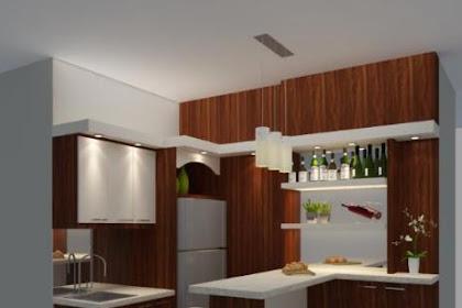 Jasa Desain Pantry Dapur Meja Bar