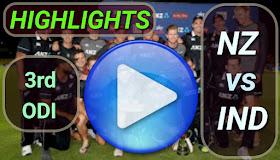 NZ vs IND 3rd ODI 2020