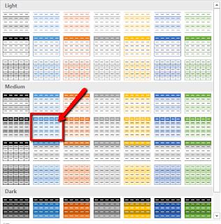 Trik Cara memberi format warna pada table