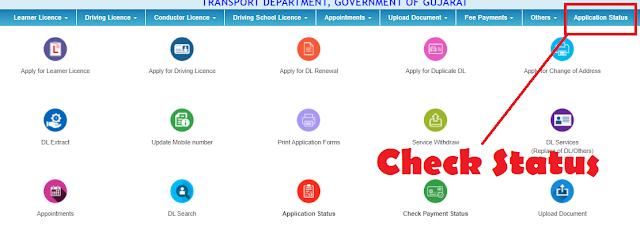 Sarathi Parivahan Application Status