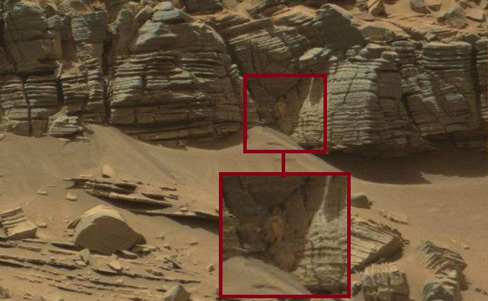 Feed Leak: Woman and a Crab on Mars?