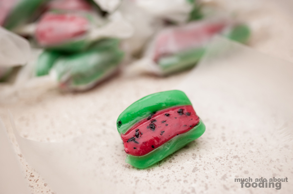 Recipe - Watermelon Saltwater Taffy | Much Ado About Fooding
