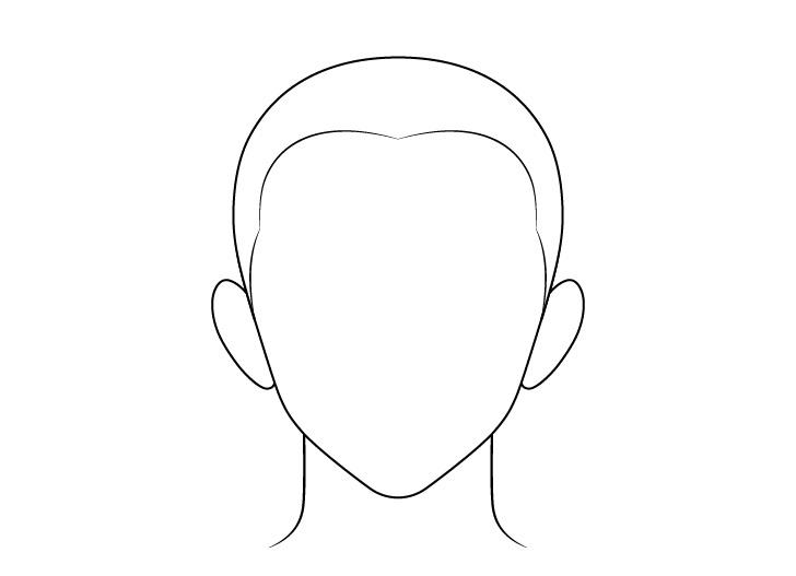 Anime buzz cut gambar garis rambut pria