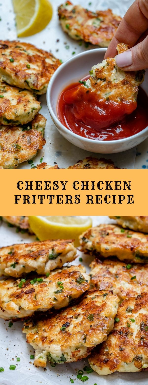 Cheesy Chicken Fritters Recipe #dinner #lunch #maincourse #keto