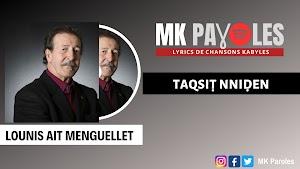 Taqsiṭ nniḍen - Lounis Ait Menguellet 2017