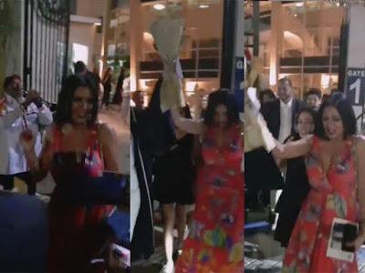 بالفيديو.. رانيا يوسف ترقص أمام مدرسة ابنتها احتفالا بتخرجها