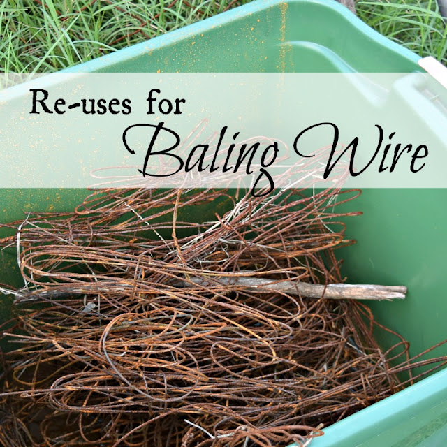 Re-uses for baling wire.
