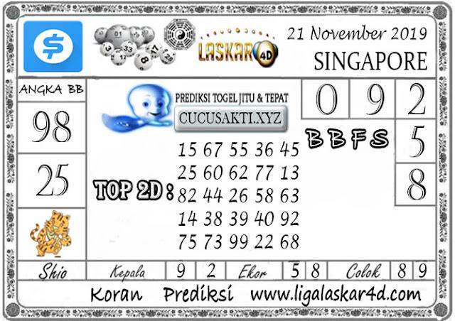 Prediksi Togel SINGAPORE LASKAR4D 21 NOVEMBER 2019