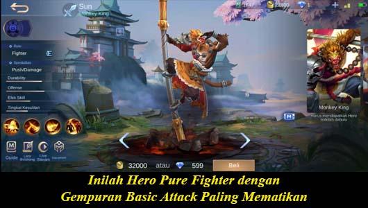 Inilah Hero Pure Fighter dengan Gempuran Basic Attack Paling Mematikan