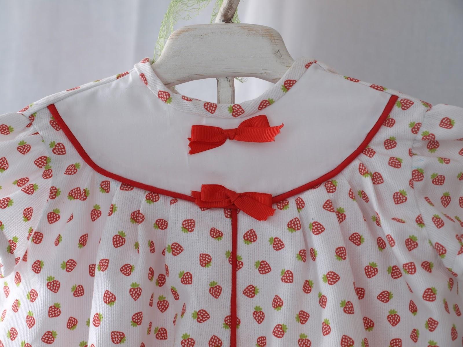 Como De Cuento: ¡¡¡Fresas!!! Vestido Con Canesú Combinado