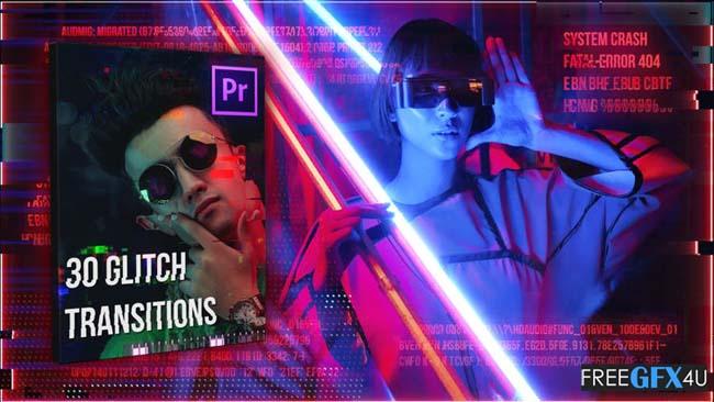 30 Glitch Transitions Pack