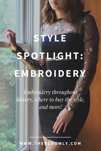 The history of embroidery, where to get affordable clothing with the style, and more