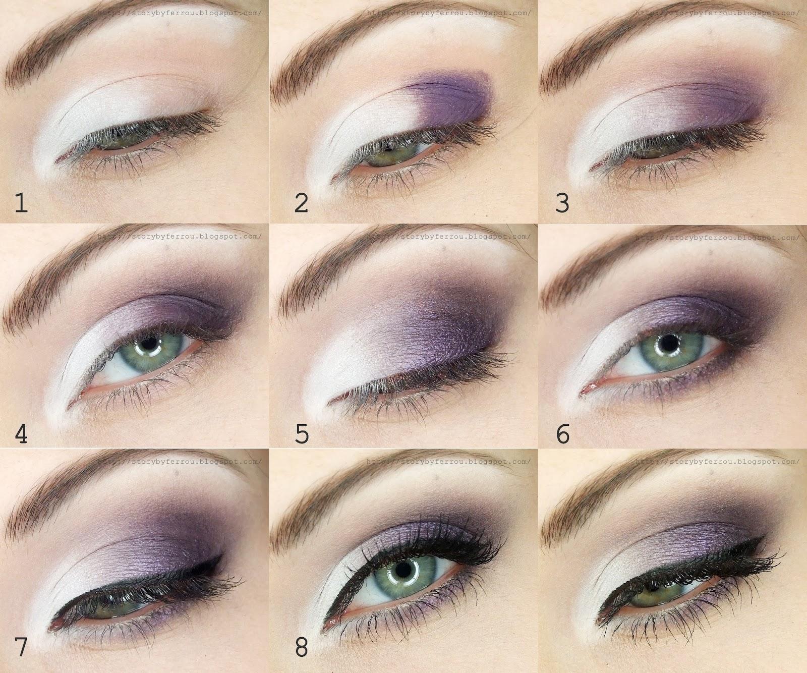 Ferrou Makeup Blog Makijaż Kosmetyki Fioletowy Makijaż ślubny