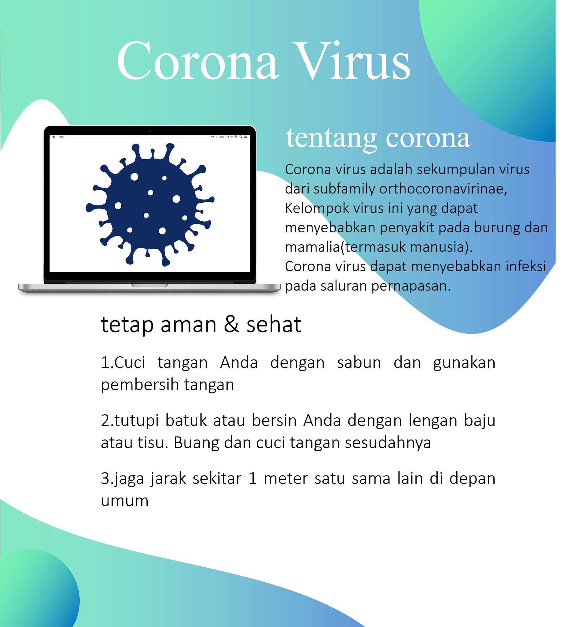 poster corona virus (covid)