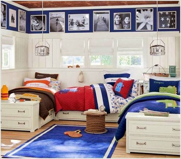 dormitorio tres niños