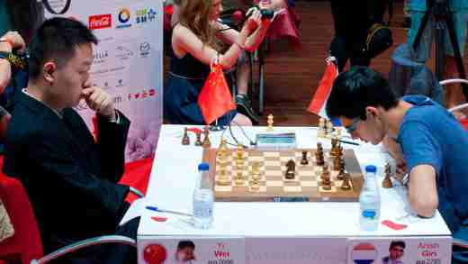 Ronde 6 à Bilbao: Anish Giri battu par Wei Yi - Photo © Chess.com