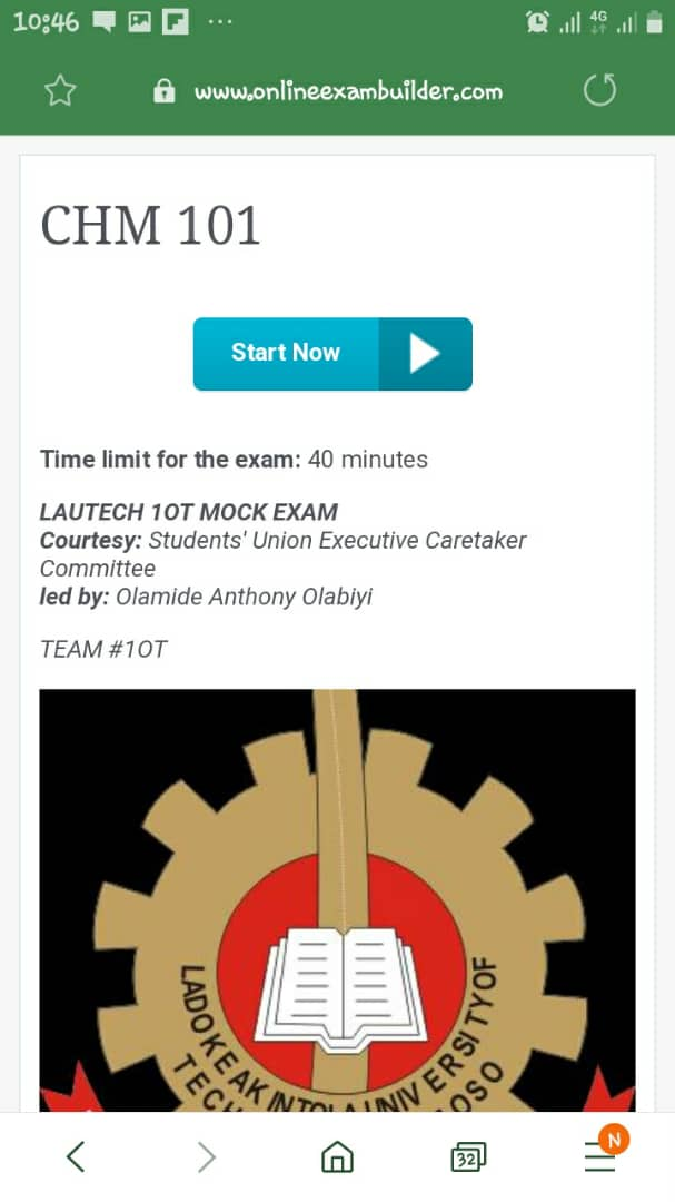 LAUTECH 100L students Started their Mock Exam Yesterday as announced, see the Students Feedback on the Exam