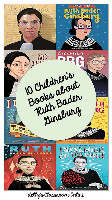 A compilation of 10 biographical children's books written about the life, career and accomplishments of Chief Justice Ruth Bader Ginsburg.