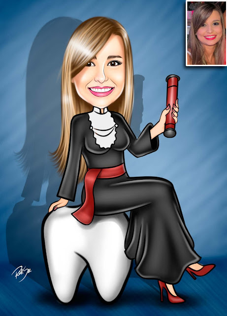 cartoon #brindes #totem #banner #lembrancinhas #convites #dentista #formanda