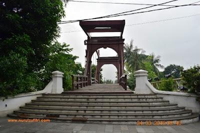 tampilan jembatan kota intan