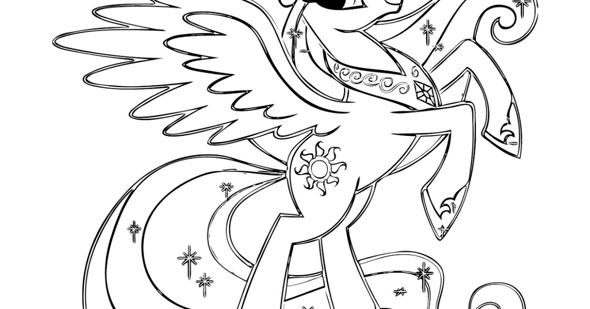baby coloring pages celestia - photo#22