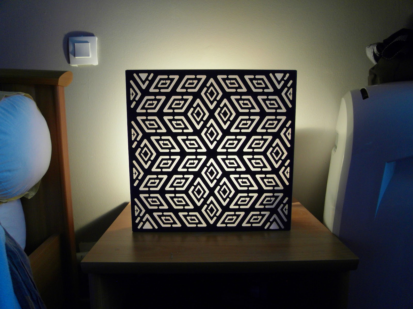 Toto Ralisation: Lampe Cube 3D