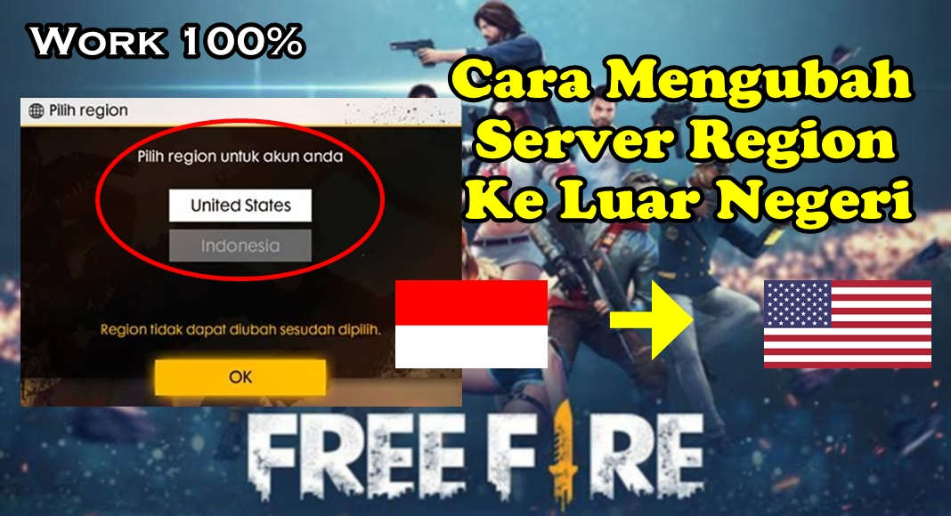 Cara Mengubah Server Region Free Fire Ke Server Luar Negeri - Rumah