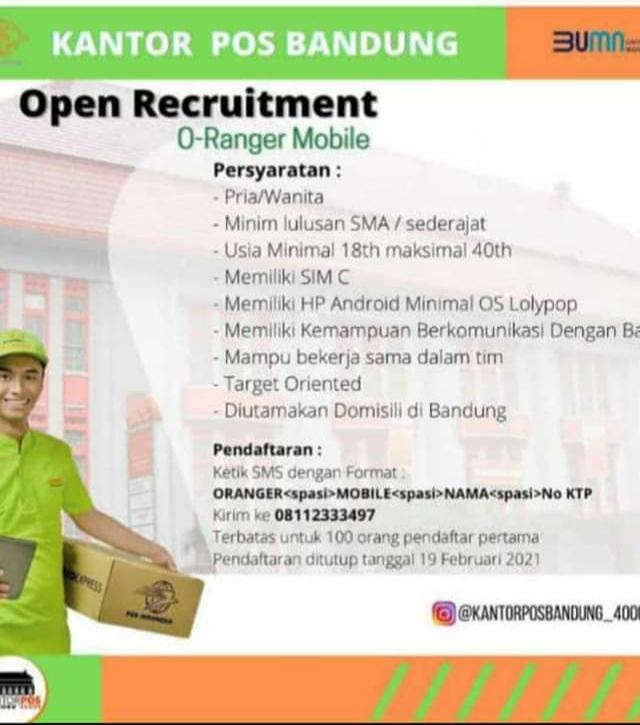 Lowongan Pekerjaan Kantor Pos Bandung BUMN