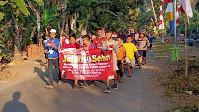 KKN STAI AN-NAWAWI Berjan Bersama Karangtaruna Desa Pangkalan, Peringati HUT RI ke 74